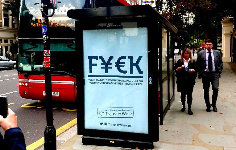 TransferWise FYCK Advert